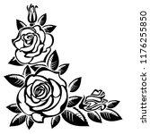 corner of roses on a white... | Shutterstock .eps vector #1176255850