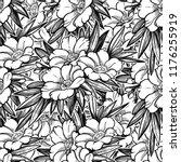 seamless pattern with garden... | Shutterstock .eps vector #1176255919