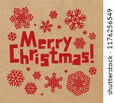 rough inscription merry... | Shutterstock .eps vector #1176256549