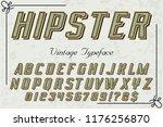 font alphabet script typeface... | Shutterstock .eps vector #1176256870