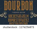 vintage font handcrafted vector ... | Shutterstock .eps vector #1176256873