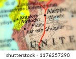 idlib  a city in syria ... | Shutterstock . vector #1176257290