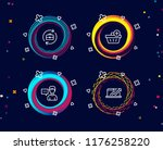 set of add purchase  person...   Shutterstock .eps vector #1176258220