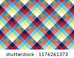colored check pixel tablecloth... | Shutterstock .eps vector #1176261373