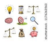 business concepts set. light... | Shutterstock .eps vector #1176263563