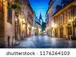 old ljubljana cityscape cobbled ...   Shutterstock . vector #1176264103
