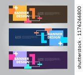 vector abstract design banner... | Shutterstock .eps vector #1176266800