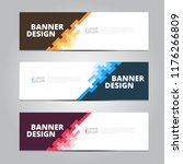 vector abstract design banner... | Shutterstock .eps vector #1176266809