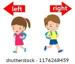 opposite left and right  girl... | Shutterstock .eps vector #1176268459