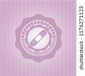 bandage plaster icon inside... | Shutterstock .eps vector #1176271123