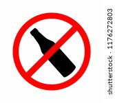 no alcohol. no drinking sign.... | Shutterstock .eps vector #1176272803
