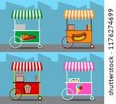 food street cart   Shutterstock .eps vector #1176274699