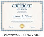 certificate or diploma retro... | Shutterstock .eps vector #1176277363