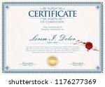 certificate or diploma retro... | Shutterstock .eps vector #1176277369
