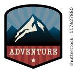 mountain adventure sign  vector ... | Shutterstock .eps vector #117627880