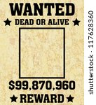 A Old Wanted Posters   Vector...