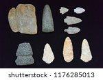 native american arrowhead... | Shutterstock . vector #1176285013