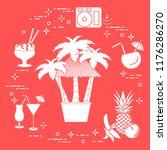 bar on the beach  palm trees ... | Shutterstock .eps vector #1176286270