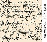 abstract seamless hand write... | Shutterstock . vector #117628708