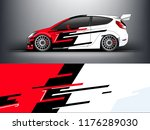 racing car wrap. red abstract... | Shutterstock .eps vector #1176289030