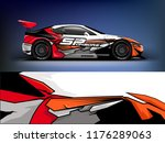 racing car wrap. red abstract... | Shutterstock .eps vector #1176289063