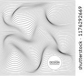 distorted wave monochrome... | Shutterstock .eps vector #1176292669