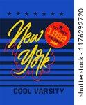new york cool varsity t shirt... | Shutterstock .eps vector #1176292720
