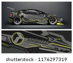 racing car wrap. abstract strip ... | Shutterstock .eps vector #1176297319