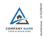 faster the future logo template ... | Shutterstock .eps vector #1176298459