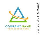 faster the future logo template ... | Shutterstock .eps vector #1176298483