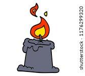 cartoon doodle lit candle | Shutterstock .eps vector #1176299320