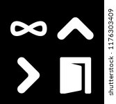 exit icons set with right arrow ... | Shutterstock .eps vector #1176303409