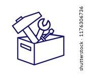 toolbox vector icon icon.... | Shutterstock .eps vector #1176306736