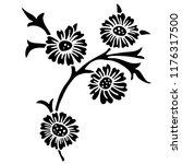vintage victorian floral... | Shutterstock .eps vector #1176317500