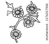 vintage victorian floral... | Shutterstock .eps vector #1176317506