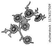 vintage victorian floral... | Shutterstock .eps vector #1176317509