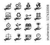 Hand concept icons. vector eps 10