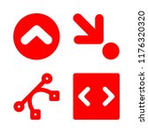 4 cursor icons with down right...   Shutterstock .eps vector #1176320320