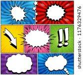 comic book page speech bubbles... | Shutterstock .eps vector #1176329476