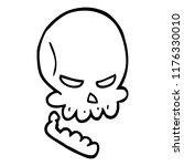 line drawing cartoon halloween... | Shutterstock .eps vector #1176330010