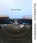 movie picks title caption typed ... | Shutterstock . vector #1176332716