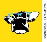 portrait of head of cow  sign... | Shutterstock .eps vector #1176334696