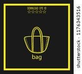 bag  sketch vector icon | Shutterstock .eps vector #1176343516