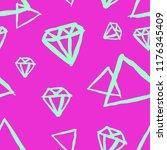 diamonds jewelry hand drawn... | Shutterstock .eps vector #1176345409