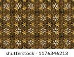 golden element on brown and... | Shutterstock . vector #1176346213
