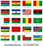 sticker flags africa  2 of 3 .... | Shutterstock .eps vector #117634714