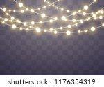 christmas lights isolated... | Shutterstock .eps vector #1176354319