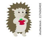 hand drawn urchin. natural... | Shutterstock .eps vector #1176363403