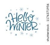 hello winter lettering | Shutterstock .eps vector #1176371956
