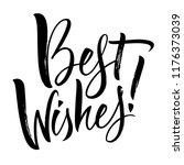 best wishes lettering.... | Shutterstock .eps vector #1176373039